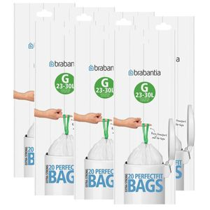 Brabantia Müllbeutel Smartfix (G) 23-30 Liter, 20 Mülltüten (7er Pack)