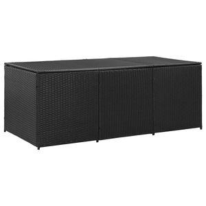 vidaXL Gartenbox Poly Rattan 180x90x75 cm Schwarz