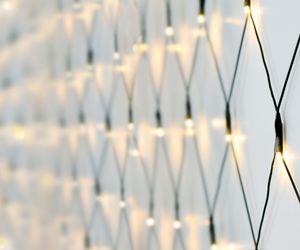 240er LED Lichternetz warmweiß - Kabel: grün - LK016WG