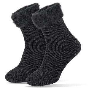 Damen Thermo Socken Thermosocken Kuschelsocken mit hohem TOG Wert von 2.3 Tarjane® - 36/41 - Anthrazit