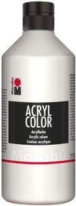 Marabu Acrylfarbe Acryl Color 500 ml weiß 070