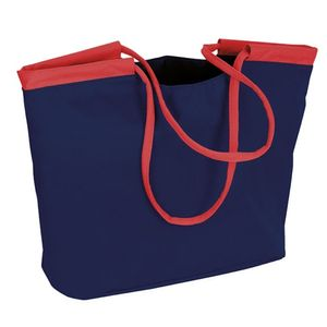 Beco strandtasche Nylon dunkelblau/rot