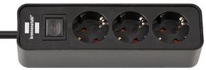 brennenstuhl Steckdosenleiste Ecolor 3-fach schwarz Kabellänge: 1,5 m