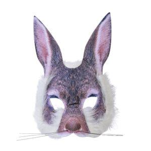 Bristol Novelty Unisex Hasenmaske für Erwachsene BN1129 (Einheitsgröße) (Grau)