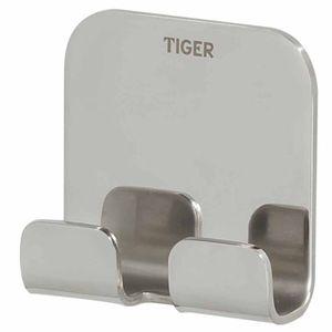 Tiger Doppel-Handtuchhaken Colar ohne Bohren Chrom 1314630346