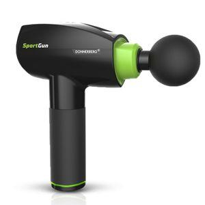 Donnerberg Massagepistole Massagegerät Elektro Massage Gun SportGun + 6 Köpfe und Netzadapter