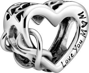 Pandora People Charm 798825C00 Love You Mum Infinity Heart Silber 925