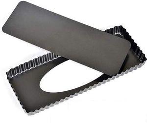 Tarteform,36.5cm*13cm Tortenform,Nonstick Rechteckige Quicheform,Obstkuchenform und Backform mit Entfernbarem Antihaftbeschichtung