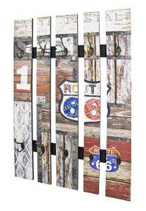 Haku Wandgarderobe vintage - Maße: 65 cm x 9 cm x 100 cm; 32850