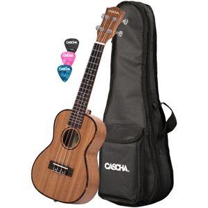 Cascha HH 2035L Left-Handed Premium Concert Ukulele with Bag and Plectrums