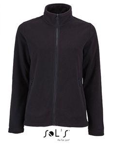 Damen Plain Fleece Jacke Norman - Farbe: Black - Größe: M