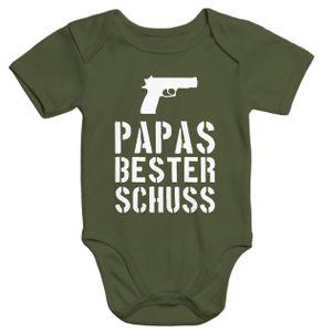 Papas bester Schuß Baby Body Moonworks®  6-12 Monate