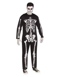 Skelett Halloween-Kostüm mit Knochen Print