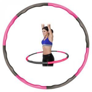 Kabalo Gewichteter zusammenklappbarer gepolsterter Fitness-Workout-Hula-Hoop (Pink / Grau)