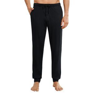 Schiesser Herren lange Schlafanzughose Loungehose mit Bündchen - 163839, Größe Herren:52, Farbe:schwarz