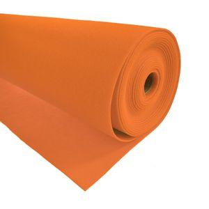 Bastelfilz 1m Meterware Filz 90cm x 1,5mm Dekofilz Taschenfilz Filzstoff 39 Farben, Farbe:orange
