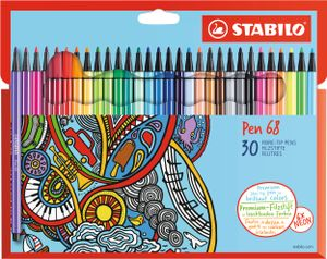 STABILO Fasermaler Pen 68 30er Karton Etui