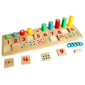 Holz Mathe Spielbrett Nummer Puzzle Sortieren Montessori Spielzeug Pädagogische Lernwerkzeuge für Kinder Kleinkinder Vorschulkinder Frühe Bildung
