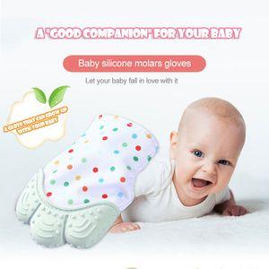 4pcs Baby Silikon Beißhandschuhe, Beißring, lindern Beschwerden beim Zahnen