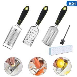 3 stk/set Käsereibe Küchenreibe Mit kleinen Pinsel Edelstahl Hobel Handreibe Küche Raspel Käsemühle Küchengeräte