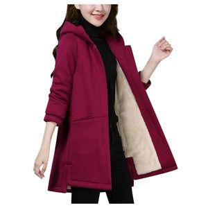 Damen Revers Kaschmir Wolle Mischung Trench Long Coat Hooded Outwear Oversize Jacke Größe:XL,Farbe:Kupfer