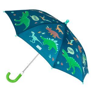 Stephen Joseph - Farbwechselnder Regenschirm für Jungen - Dino - Dunkelblau, Onesize