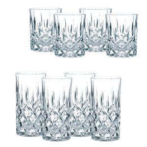 Nachtmann Nobelesse Gläser 4 Longdrinkgläser   4 Whiskygläser