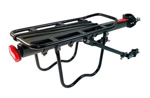 Gepäckträger MTB verstellbar für Sattelstütze Mountainbike Fahrrad Aluminium
