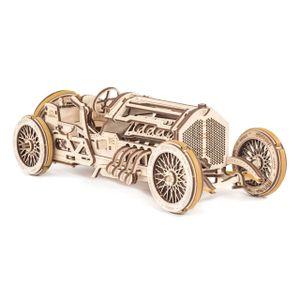 Ugears - Holz Modellbau U-9 Grand Prix Car Rennauto 348 Teile