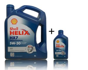 Shell Helix Professional HX7 AV 5W-30 1x5+1x1 Liter