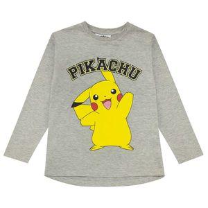 Pokemon - Langarm-T-Shirt für Jungen PG1365 (122) (Grau meliert)