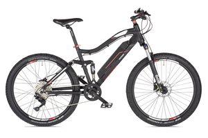 Telefunken E-Bike Mountainbike Elektrofahrrad Alu, 9 Gang Shimano Kettenschaltung - Pedelec MTB 27,5 Zoll, Hinterradmotor 250W, Anthrazit/Rot, Aufsteiger M930