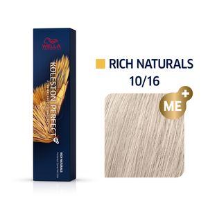 Wella Professionals Koleston Perfect Me+ Rich Naturals Professionelle permanente Haarfarbe 10/16 60 ml