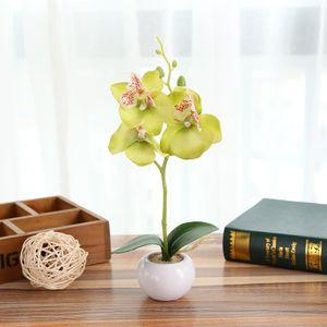 Simulierte Pflanze Bonsai Indoor Schmetterling Orchidee Bonsai Pflanzen Eleganz Ruhig WSB81012635GN