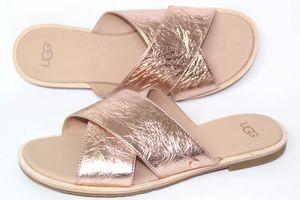 UGG Australia Joni METALLIC - Rosé Gold Damen Schuhe Pantolette Gr. 36