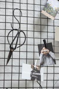 IB Laursen Nostalgische Schere L= 16 cm Gartenschere Küchenschere schwarz Metall