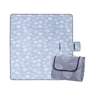 Waschbare Picknickdecke 200 x 200cm XXL Wärmeisoliert Wasserdicht Sanddicht mit Tragegriff