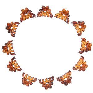 12x frauen mini haar klaue clips kunststoff haarklemmen krake kiefer haarnadel braun Haarklammer wie beschrieben