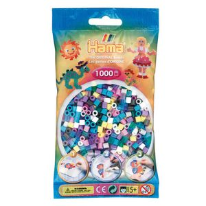 Hama 207-69 Perlenbeutel, 1.000 St?ck, Farbmix 69