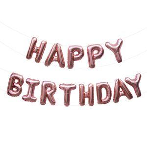Oblique Unique Happy Birthday Folienballon Girlande in Roségold Geburtstag Party Deko