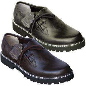 Haferlschuhe Trachtenschuhe aus Glattleder, Original-Handmachart, Schuhgröße:43, Farbe:Schwarz
