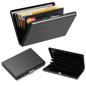 RFID Kreditkartenetui Blocker Schutz Schwarz Geldbörse Kreditkarten Kartenetui Kredit und Visitenkartenetui Kartenmappe Schwarz 5 Visitenkarten