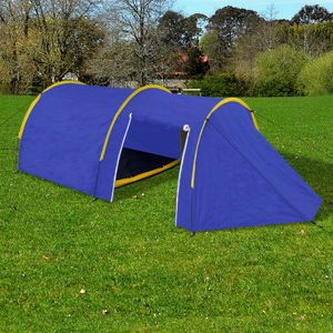 dereoir Familienzelt Kuppelzelt Campingzelt 4 Personen Blau/Gelb