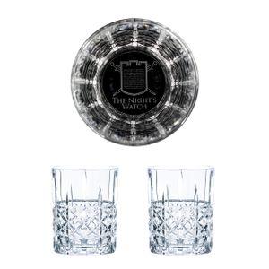 Game of Thrones Whiskyglas 2er Set Nights Watch Nachtwache Gravierte Gläser