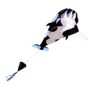 Lixada 3D Kite Riesiger rahmenloser weicher Parafoil-Riesenwal-Drachen 【120 * 215cm】