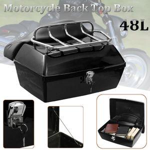 48L Universal Motorrad hintere Lagerung Box Schwanz Gepäck Kofferraum Fall Toolbox für Motocross Scooter Motorrad