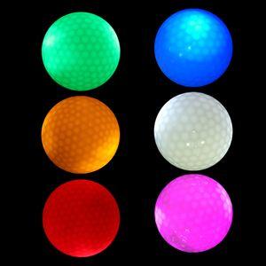 6 Stück Leuchtend Golfball LED Golfbälle Golfgeschenke