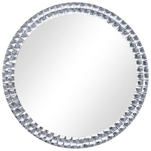 vidaXL Wandspiegel Silbern 70 cm Hartglas