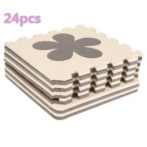 24 PCS  Puzzlematte Bodenmatte Spielmatte Schutzmatte Kinderteppich Krabbelmatte Mickey