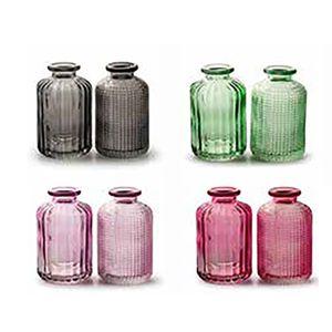 8 x Vasen  H 8,5 cm Dekovase Tischvase Glasvase Väschen